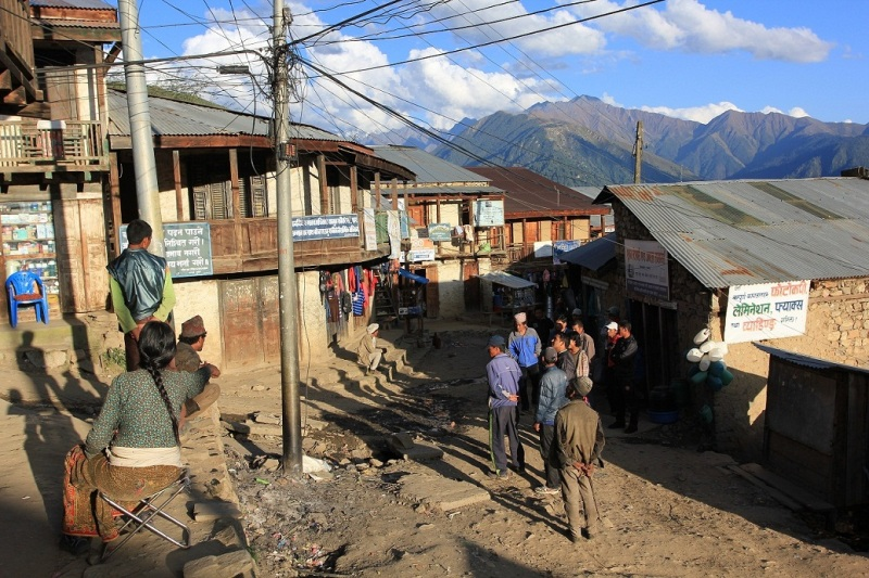 Main Bazar of Simikot, capital village of Humla District