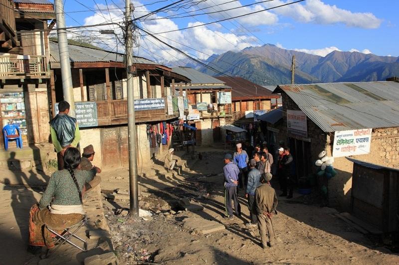 Main Bazar of Simikot, capital village of Humla District