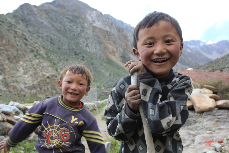 Children of Halji. Limi Valley.