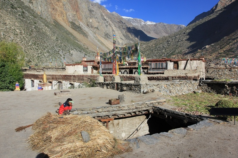 Impressive 500-year old Gompa. Halji village. Limi valley.