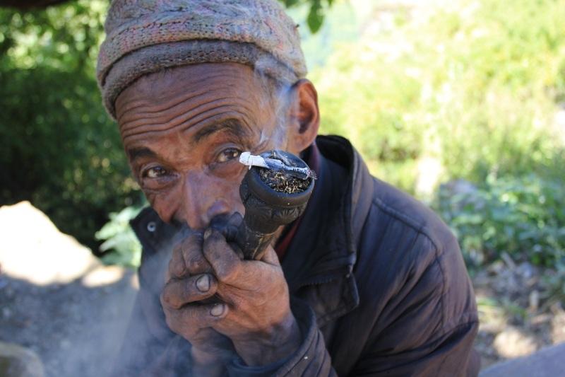 Smokin' fresh tobacco from the fields