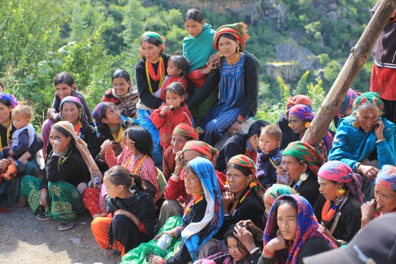 Colourfull women in Daurapiri, Humla Karnali