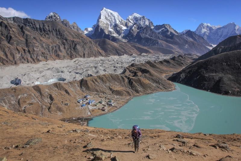 Nepali people really hope tourists are going to return this year! Gokyo Ri. Solo Khumbu. Nepal.